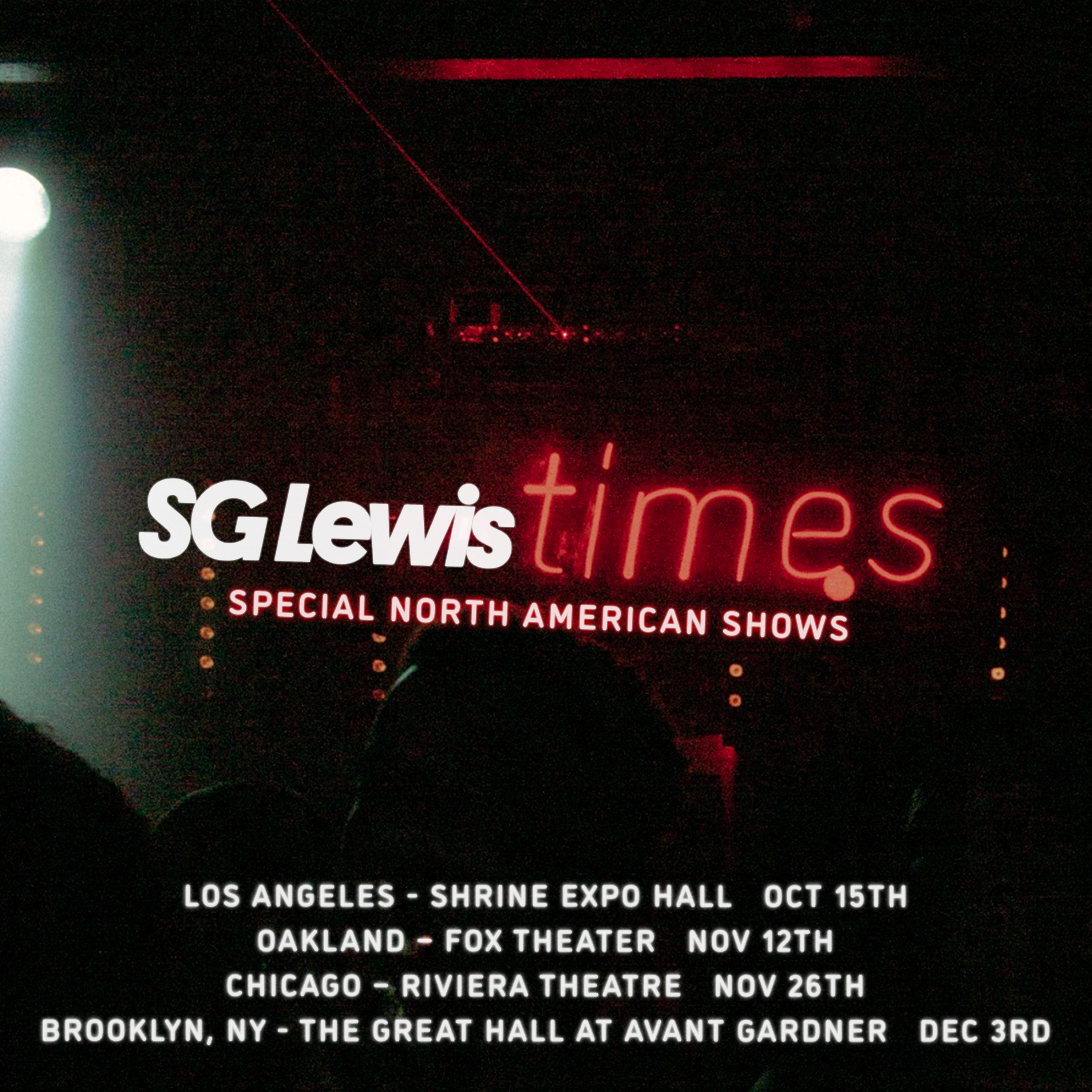 SG Lewis - Special North American Shows